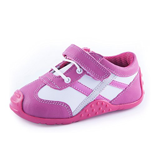 ATHLETIC - VERA | Wobbly Waddlers | Baby Girl Leather Sneaker Shoes | First Steps with Arch Support (Arch Support Shoes For Toddlers)