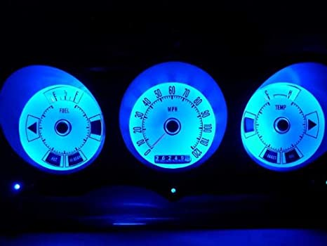 BLUE 4-Point BA9 Style LED Replacement Instrument Cluster Gauge Bulb