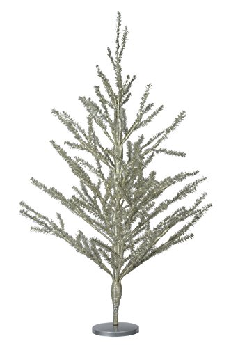 30 Inch High Silver Tinsel Christmas - Tinsel Christmas Trees