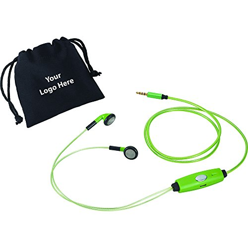 Blaze Light Up Earbuds - 48 Quantity - $20.70 Each - PROMOTIONAL PRODUCT / BULK / BRANDED with YOUR LOGO / CUSTOMIZED by Sunrise Identity