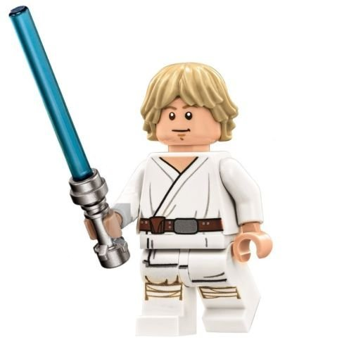LEGO Star Wars Death Star Minifigure - Luke Skywalker with Lightsaber Mouth Closed (75159) - Lego Luke Skywalker