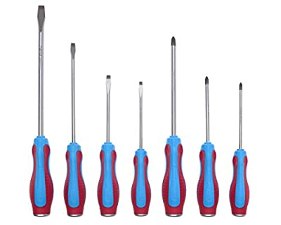 Channellock SD-7CB Code Blue Screwdrivers 7-Piece Set - S144CB, S146CB, S364CB, S388CB, P104CB, P204CB, P306CB