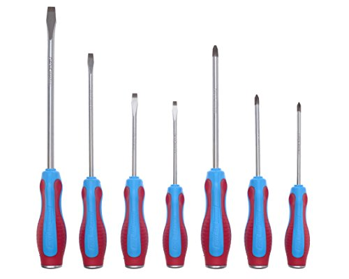 Channellock SD-7CB Code Blue Screwdrivers 7-Piece Set - S144CB, S146CB, S364CB, S388CB, P104CB, P204CB, P306CB ()