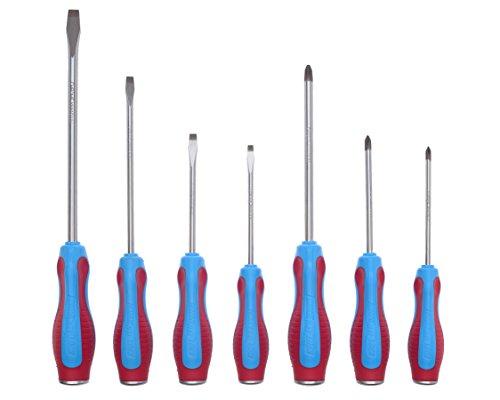 screwdrivers magnetic tips 7pcs set 3 sided code blue grips laser steel caps ebay. Black Bedroom Furniture Sets. Home Design Ideas