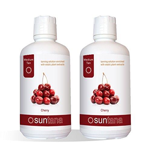 2000ml (2 x 1000ml) Suntana Cherry Medium 10% DHA Spray Tan Solution by Suntana Spray tan