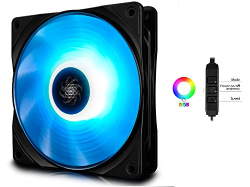 DEEPCOOL RF120 120mm RGB LED PWM Fan with Cable Controller Included