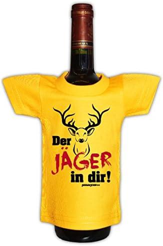 Goodman Design Originelle Flaschenverpackung - Der Jäger in dir! - Mini T-Shirt als Geschenk auf Partys! Flaschenüberzug