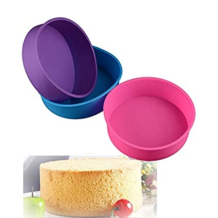 Round Silicone Cake Mold Pan Muffin Pizza Pastry Baking Tray Mould Tools WE