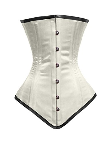 Luvsecretlingerie 22 Steel Boned Waist Train Satin Long Torso Underbust Corset NZPWgPiZ