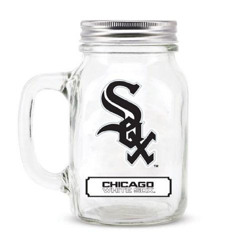 Chicago White Sox Mason Jar 20 oz - w/LID