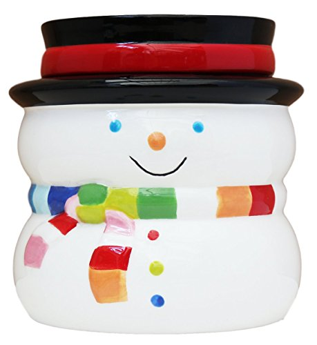 Cute Hand Painted Ceramic Winter Snowman 2-Piece Dip Bowl Set, 80055 by - Bowl Snowman Dip