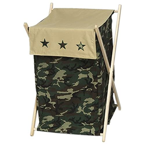 Sweet Jojo Designs Baby And Kids Clothes Laundry Hamper   Green Camo Army  Military Camouflage