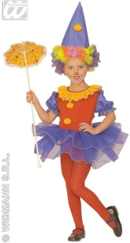 Girls Little Clown Ballerina Costume Outfit for Circus Fancy Dress -