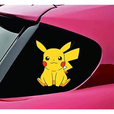 Pqzqmq Pikachu Car Window Decal Stickers Pikachu Vinyl Decal Sticker for Car/Trucks/Window/Laptop/Bumper(7 x 7 inch): Home & Kitchen
