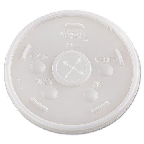 Dart Plastic Cold Cup Lids, 20oz, Translucent, 500/Carton