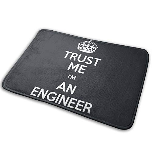 LNUO-2 Indoor Outdoor Entrance Doormat Trust Me I'm an Engineer Rug Floor Mats for Entry, Rubber Non Slip Backing