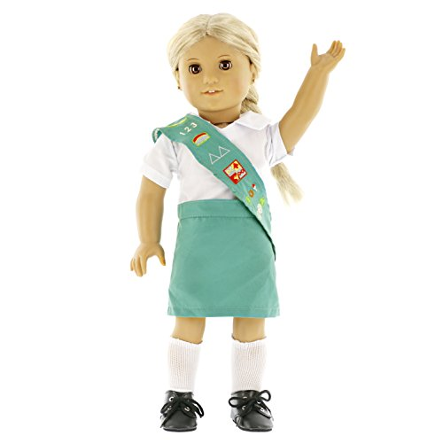 - Dress Along Dolly Girl Scout Inspired Doll Clothes for American Girl and 18