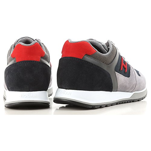 Rosso E Camoscio Sneakers Blu Mod Hogan Hxm3210y861i7g786z Grigio Uomo H321 In Pelle wUnafBq