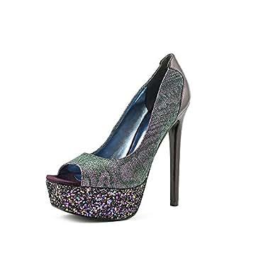 Nine West Women Pretty Prim Purple Heels & Pumps 8 M US