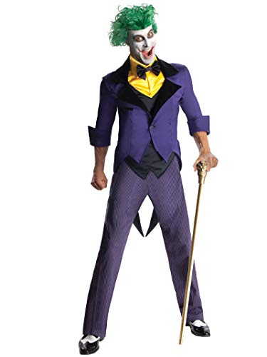 Male Villain Halloween Costumes (Rubie's Men's Dc Super Villains Adult Joker, Yellow/Purple,)
