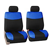 FH GROUP FH-FB056102 Modern Flat Cloth Seat Covers Pair Set -Fit Most Car, Truck, Suv, or Van