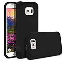 Galaxy S6 Edge Case, MagicMobile® Hybrid Ultra Protective Thin Armor Dedenfer Case For Samsung Galaxy S6 Edge Shockproof Skin Hard Dual Cover High Impact Case for Galaxy S6 Edge (2015) [Black / Black]