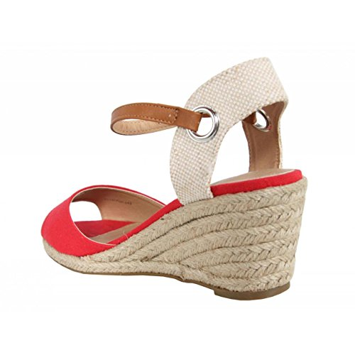 Chaussures compensées pour Femme MTNG 51846 WICAM ROJO