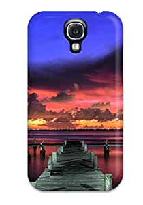 Case Cover Wooden Bridge Eight Digital/ Fashionable Case For Galaxy S4