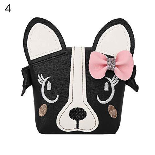 Bowknot Handbag Kids Shoulder Messenger Girls Oce180anYLV Gift Bag Black Cartoon Animal Purse 6xIFwXS
