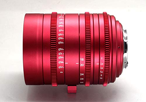 Cinematics Customized cine Lens Sigma 18-35 t2 ef Mount Canon Mount red Golden Blue Color for RedOne Epic Scarlet Raven bmcc bmpcc Black Magic ursa Canon c300 Sony a7 (Best Lenses For Red Epic)