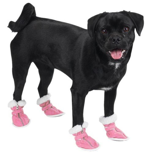 Casual Canine Cozy Boots Med Pink