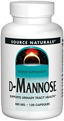 Source Naturals D-Mannose 500mg Potent Urinary Tract (UT) & Bladder Health Support - Fast-Acting, Cleansing, Detoxifying - Naturally Flush Impurities - 120 Capsules