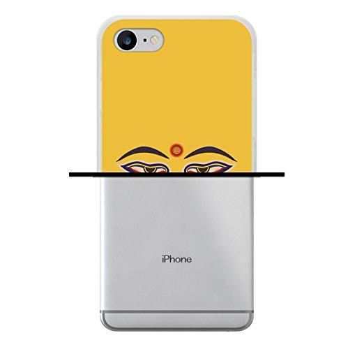 WoowCase Hülle Case für [ iPhone 7 ] Handy Cover Schutzhülle Buddha Augen