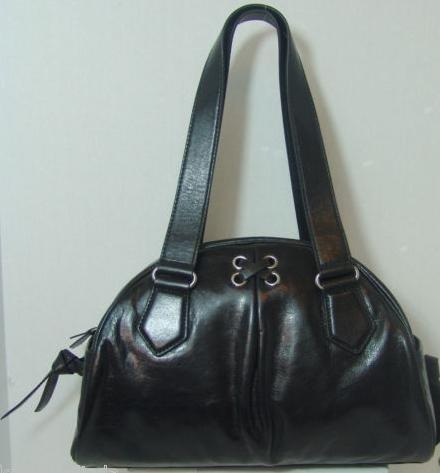 Cole Haan Dome Satchel Black Leather Grommett II Unit B36471
