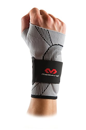 Mcdavid Ultra Ankle Brace - McDavid 5131 Elite Engineered Elastic Wrist Sleeve with Gel buttresses and strapsfor Wrist Support and to Relieve Wrist Pain from Carpel Tunnel and Tendonitis
