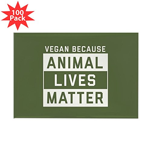 CafePress - Animal Lives Matter - Rectangle Magnet (100 pack) by CafePress