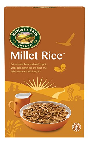 Nature's Path Organic Millet Rice Fruit juice Sweetened, Cereal with Oatbran, 13.25-Ounce Boxes (Pack of 6)