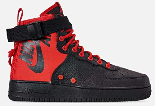 Nike Men's SF AF1 MID Habanero Red/Black 917753-601 (Size: 13)