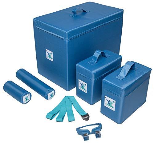 Pain Free-Posture Committed Foam Package (Blocks Large & 2 Small, Rolls Long & Short, Strap/Yoga Belt & Prism Glasses Bundle)