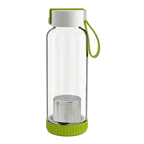 Sports Outdoor Infuser Portable Glass Water Bottle Tea Filte