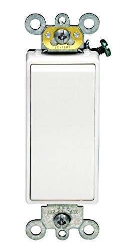 Leviton 5693-2W 15 Amp 120/277V Decora Plus Rocker 3-Way AC Quiet Switch, White