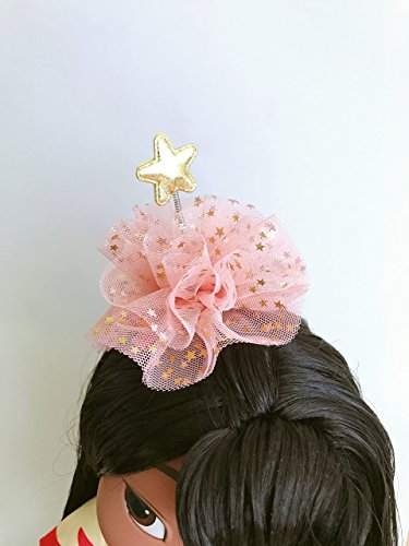 Moving Star Hair Spring Goldstar swinger Tulle Hair Accessory Lace Foil Star Chiffon Toddler Fairy Costume Breeze Sprout Antenna Hanukka -
