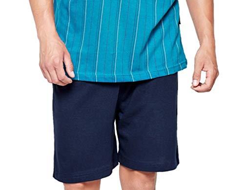 Nero Nightwear Maniche Pezzi Due Corte Moonline Pigiama Uomo paqf01n