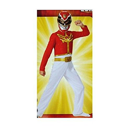 [Power Rangers Megaforce Red Ranger 2-Piece Child Costume Mask Jumpsuit Sm. (4-6)] (Red Megaforce Power Ranger Costume)