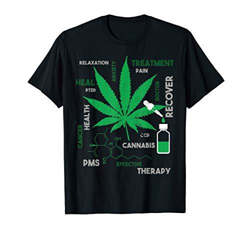 Fun CBD Oil Gift T-Shirt For CBD Oil Fans Hemp Weed