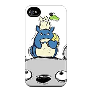 Shock Absorption Hard Phone Cover For Iphone 6plus (coz9749MKwF) Allow Personal Design HD Totoro Pattern