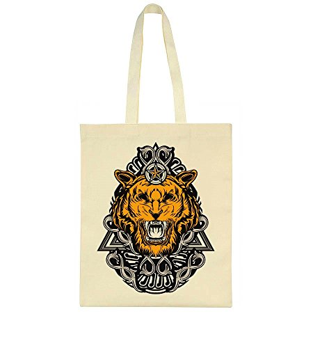 Angry Ornamented Awesome Tiger Awesome Ornamented Tiger Bag Tote Angry qzqCxwgR