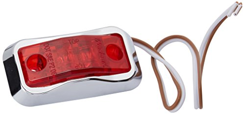 Wesbar (54201-002) Red LED Side Marker Lamp with Chrome Bezel