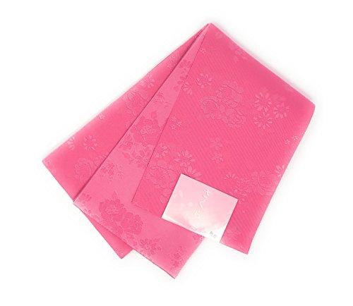 フライト駅スロベニア浴衣帯 ピンク 花柄(日本製 ゆかた 夏祭り 花火 浴衣 おび ゆかた帯)