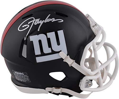 Lawrence Taylor New York Giants Autographed Riddell Black Matte Alternate Speed Mini Helmet - Fanatics Authentic Certified (New York Giants Mini Speed Helmet)